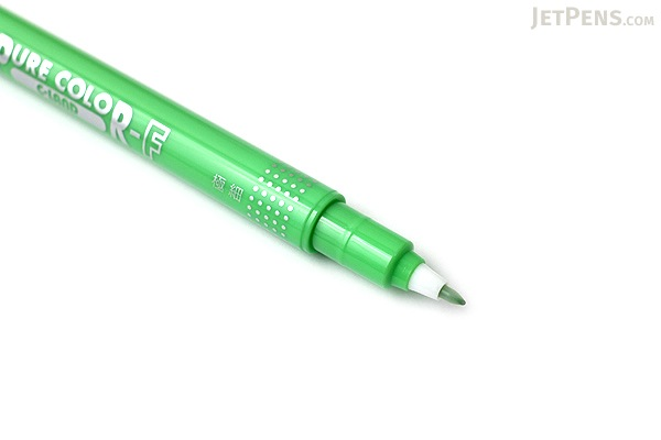 Uni Mitsubishi Pure Color-F Double-Sided Sign Pen - 0.8 mm + 0.4 mm - Yellow Green - UNI PW101TPC.5