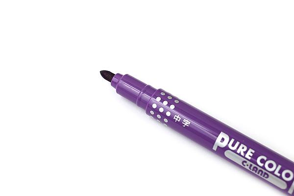 Uni Mitsubishi Pure Color-F Double-Sided Sign Pen - 0.8 mm + 0.4 mm - 18 Color Bundle - JETPENS UNI PW-101TPC BUNDLE