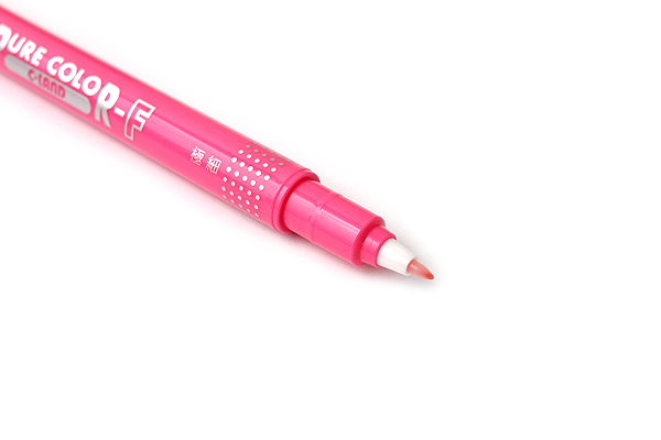 Uni Mitsubishi Pure Color-F Double-Sided Sign Pen - 0.8 mm + 0.4 mm - Pink - UNI PW101TPC.13