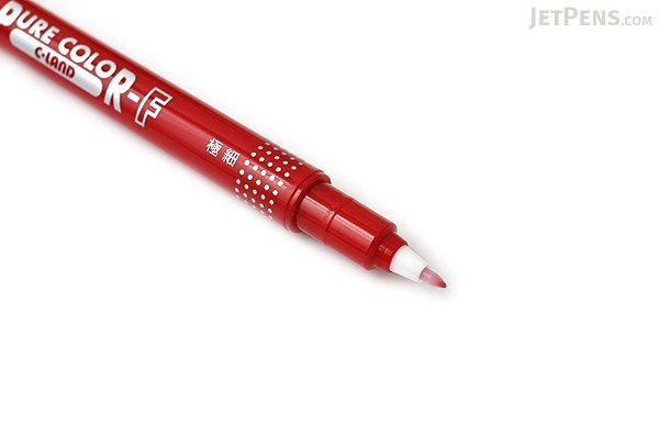Uni Mitsubishi Pure Color-F Double-Sided Sign Pen - 0.8 mm + 0.4 mm - Crimson - UNI PW101TPC.14