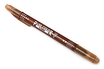Uni Mitsubishi Pure Color-F Double-Sided Sign Pen - 0.8 mm + 0.4 mm - Brown - UNI PW101TPC.21