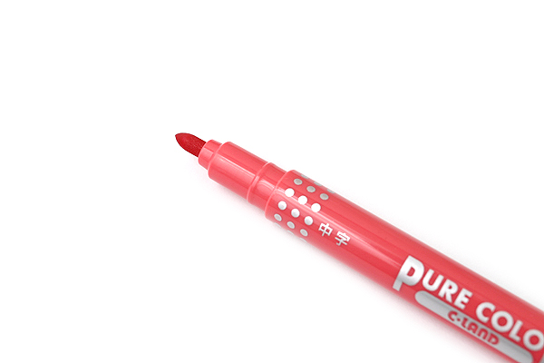 Uni Mitsubishi Pure Color-F Double-Sided Sign Pen - 0.8 mm + 0.4 mm - Rose - UNI PW101TPC.36