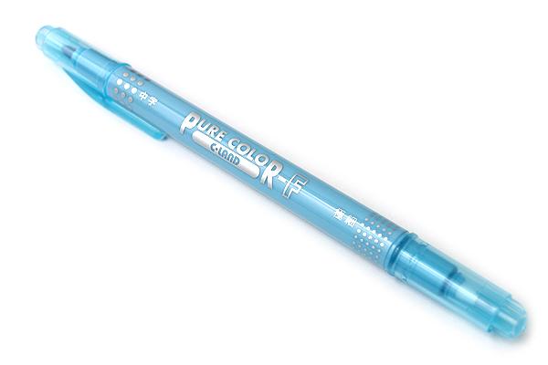 Uni Mitsubishi Pure Color-F Double-Sided Sign Pen - 0.8 mm + 0.4 mm - Sky Blue - UNI PW101TPC.48