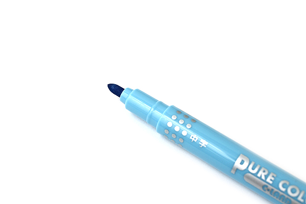 Uni Mitsubishi Pure Color-F Double-Sided Sign Pen - 0.8 mm + 0.4 mm - Sky Blue - UNI PW101TPC.48