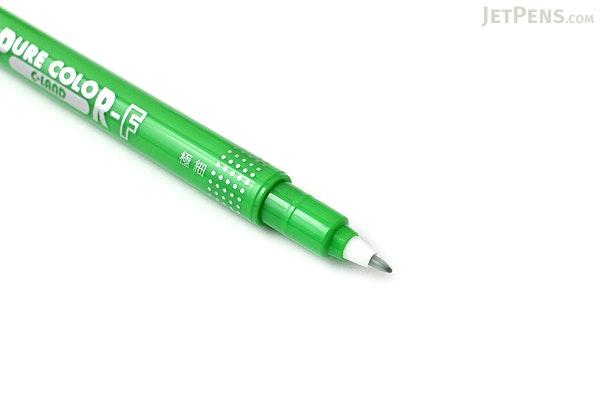 Uni Mitsubishi Pure Color-F Double-Sided Sign Pen - 0.8 mm + 0.4 mm - Light Green - UNI PW101TPC.52