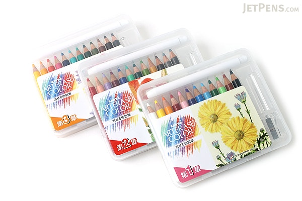 Uni Arterase Color Pencil - 12 Color Compact Set - Basic Tone - UNI UACNCS12C1