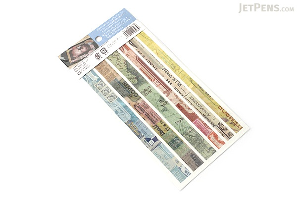 Pine Book Masking Tape Stickers - Vintage - 2 Sheets - PINE BOOK TM-88