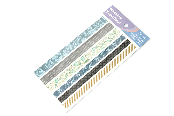 Pine Book Masking Tape Stickers - Elegant Navy - 2 Sheets - PINE BOOK TM-87