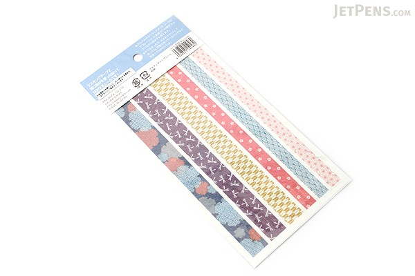 Pine Book Masking Tape Stickers - Japanese Pattern - 2 Sheets - PINE BOOK TM-71