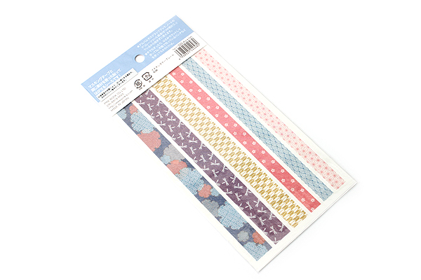 Pine Book Masking Tape Stickers - Japanese Pattern - 2 Sheets - PINE BOOK TM-71