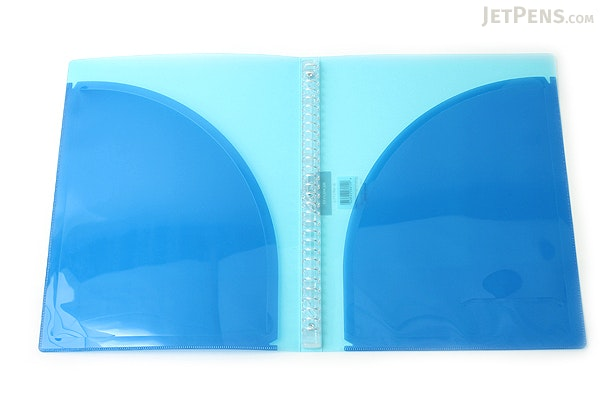 Kokuyo Campus Adapt Slim Binder - A4 - 30 Rings - Light Blue - KOKUYO RU-AP171LB