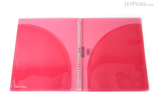 Kokuyo Campus Adapt Slim Binder - A4 - 30 Rings - Pink - Bundle of 3 - KOKUYO RU-AP171P BUNDLE