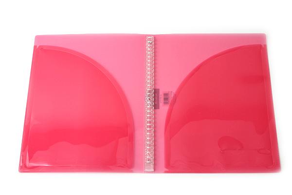 Kokuyo Campus Adapt Slim Binder - A4 - 30 Rings - Pink - KOKUYO RU-AP171P