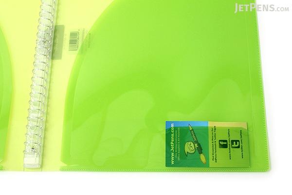 Kokuyo Campus Adapt Slim Binder - A4 - 30 Rings - Yellow Green - KOKUYO RU-AP171YG