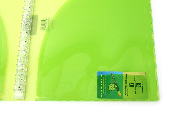 Kokuyo Campus Adapt Slim Binder - A4 - 30 Rings - Yellow Green - Bundle of 3 - KOKUYO RU-AP171YG BUNDLE