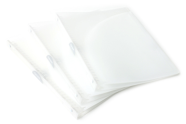 Kokuyo Campus Adapt Slim Binder - A4 - 30 Rings - White - Bundle of 3 - KOKUYO RU-AP171T BUNDLE