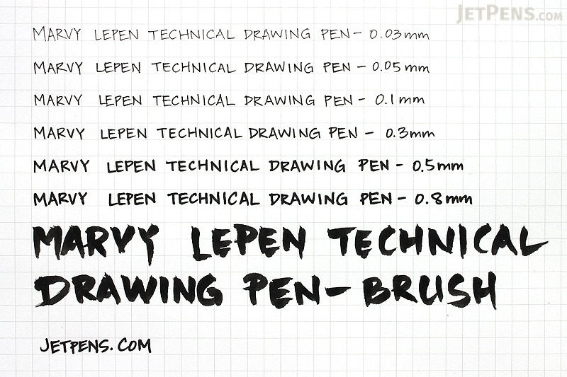 Marvy Le Pen Technical Drawing Pen - 0.03 mm - Black - MARVY 4100-0.03