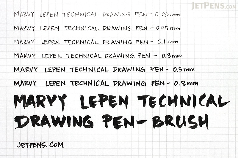 Marvy Le Pen Technical Drawing Pen - 0.8 mm - Black - MARVY 4100-0.8