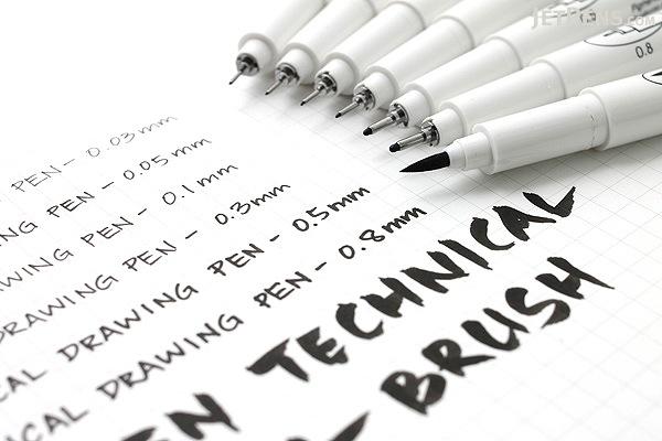 Marvy Le Pen Technical Drawing Pen - 0.1 mm - Black - MARVY 4100-0.1