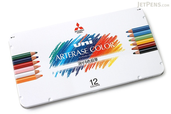 Uni Arterase Color Pencil - 12 Color Set - UNI UAC12C
