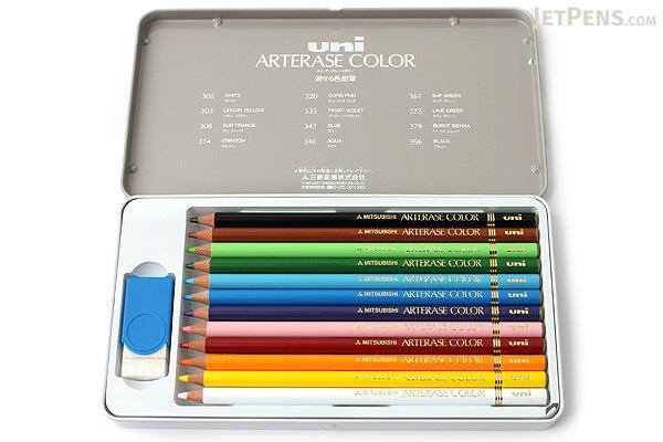 Uni Arterase Color Pencil - 12 Color Set - UNI UAC12C
