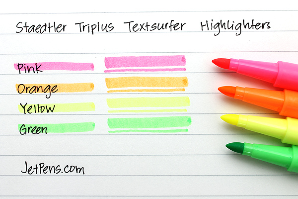 Staedtler Triplus Textsurfer Highlighter - 4 Color Set - STAEDTLER 362SB4