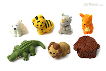 Iwako Safari Animal Novelty Eraser - 7 Piece Set - IWAKO ER-BRI025