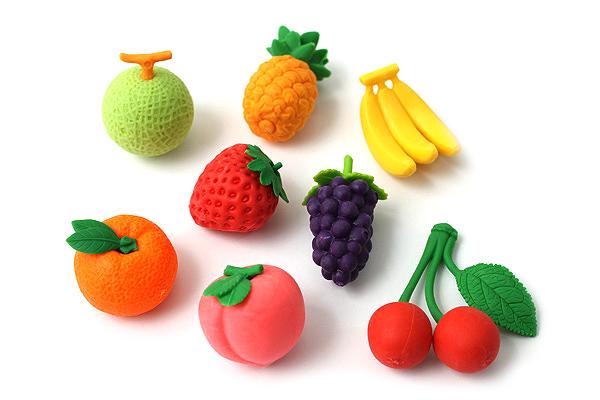 Iwako Fruit Novelty Eraser - 8 Piece Set - IWAKO ER-BRI024