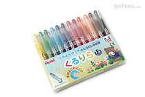 Pentel Kururira Twist Crayon - 12 Color Set - PENTEL GTW-12