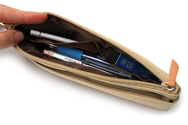 Lihit Lab Otomo Pencil Case - Beige - LIHIT LAB A-7568-16