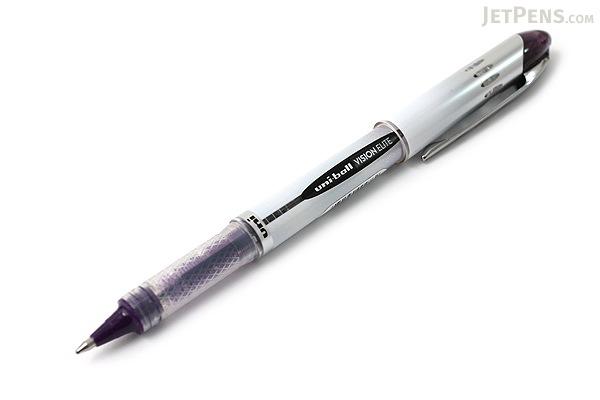 Uni-ball Vision Elite BLX Rollerball Pen - 0.8 mm - Purple Black - UNI-BALL 1832413