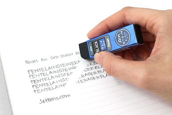 Pentel Ain Stein Eraser - Black - Metallic Blue Sleeve - PENTEL ZEST10AC
