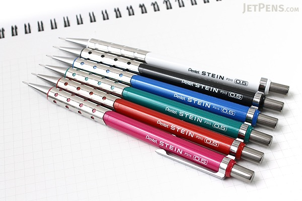 Pentel Stein Mechanical Pencil - 0.5 mm - Metallic Black Body - PENTEL P315-MA