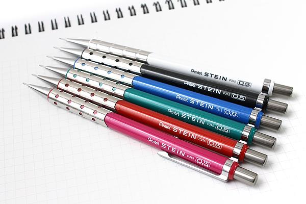 Pentel Stein Mechanical Pencil - 0.5 mm - Metallic Pink Body - PENTEL XP315-MP