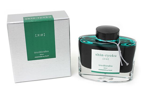 Pilot Iroshizuku Ink - 50 ml - Shin-ryoku Deep Green (Deep Green) - PILOT INK-50-SHR