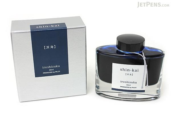 Pilot Iroshizuku Shin-kai Ink (Deep Sea) - 50 ml Bottle - PILOT INK-50-SNK