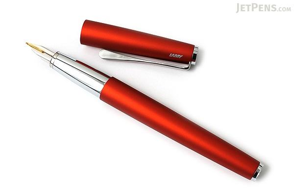 Lamy Studio Fountain Pen with 14K Gold Nib - Medium - Royal Red Body - LAMY L68RDM