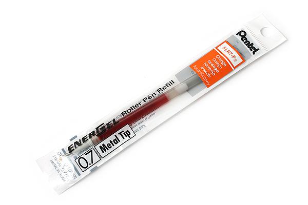 Pentel EnerGel LR7 Gel Pen Refill - 0.7 mm - Orange - PENTEL LR7-F