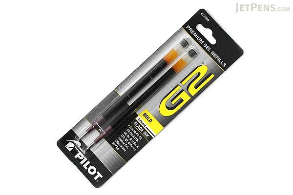 Pilot G2 Gel Pen Refill - 1.0 mm - Black - Pack of 2 - PILOT BG21RBLK