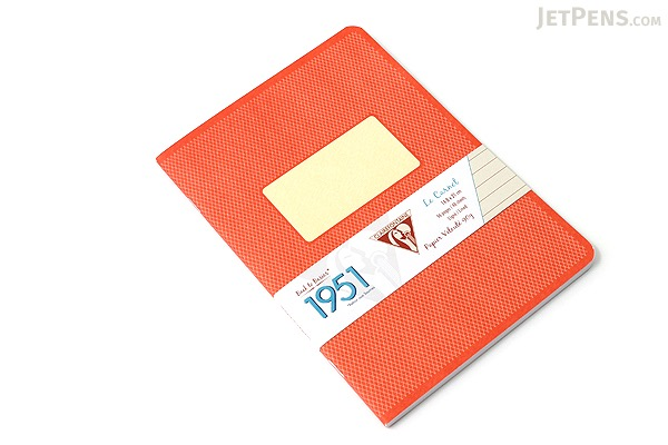 "Clairefontaine Collection 1951 Notebook - 5.75"" x 8.25"" - Lined - 48 Sheets - Red Coral - Bundle of 2 - CLAIREFONTAINE 195436 BUNDLE"