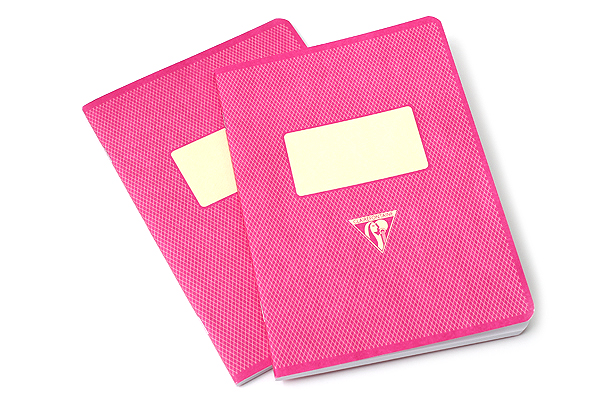 "Clairefontaine Collection 1951 Notebook - 5.75"" x 8.25"" - Lined - 48 Sheets - Raspberry - Bundle of 2 - CLAIREFONTAINE 195836 BUNDLE"