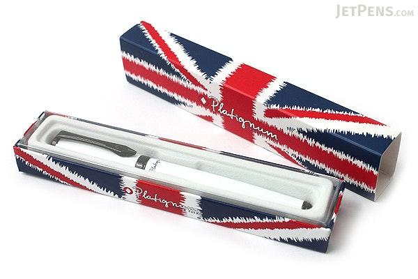 Platignum Studio Fountain Pen - Medium Nib - White Body - PLATIGNUM P50301