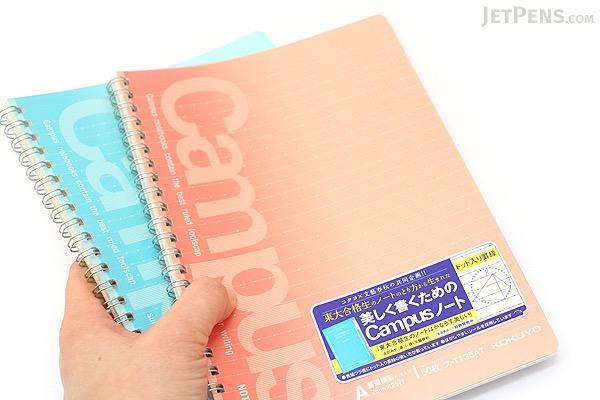 Kokuyo Campus Twin Ring Notebook - A5 - Dotted 6 mm Rule - 50 Sheets - Pack of 5 - KOKUYO SU-T135BT BUNDLE