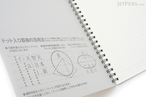 "Kokuyo Campus Twin Ring Notebook - ""Route to the Top"" Cover - Semi B5 - Dotted 7 mm Rule - 40 Sheets - Bundle of 5 - KOKUYO SU-TV3AT BUNDLE"