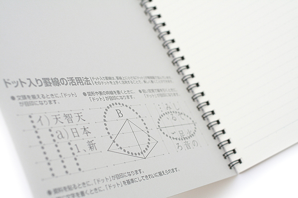 """Kokuyo Campus Twin Ring Notebook - """"Route to the Top"""" Cover - Semi B5 - Dotted 7 mm Rule - 40 Sheets - Bundle of 5 - KOKUYO SU-TV3AT BUNDLE"""