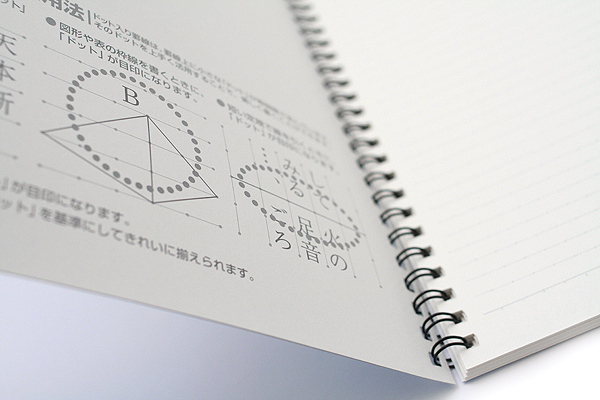 "Kokuyo Campus Twin Ring Notebook - ""Route to the Top"" Cover - Semi B5 - Dotted 6 mm Rule - 40 Sheets - Bundle of 5 - KOKUYO SU-TV3BT BUNDLE"