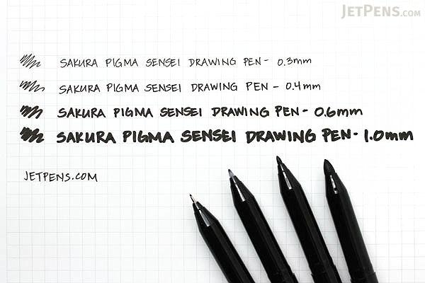 Sakura Pigma Sensei Drawing Pen - 1.0 mm - Black - SAKURA 38484