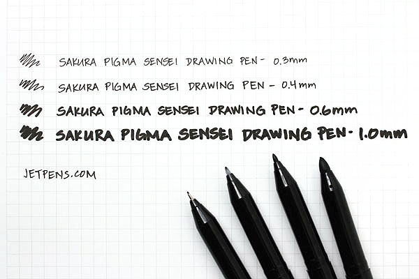 Sakura Pigma Sensei Drawing Pen - 0.3 mm - Black - SAKURA 38482