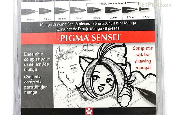 Sakura Pigma Sensei Drawing Pen - 8 Piece Set - SAKURA 50204