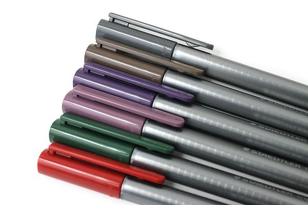 Staedtler Triplus Fineliner Pen - 0.3 mm - Nature Colors - 6 Color Set - STAEDTLER 334SB6C2A6